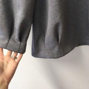 Banana Republic Tops - Banana Republic gray zip back pleated top